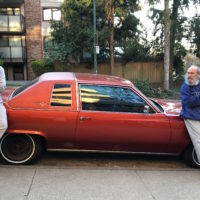 with Spencer and his Cadillac