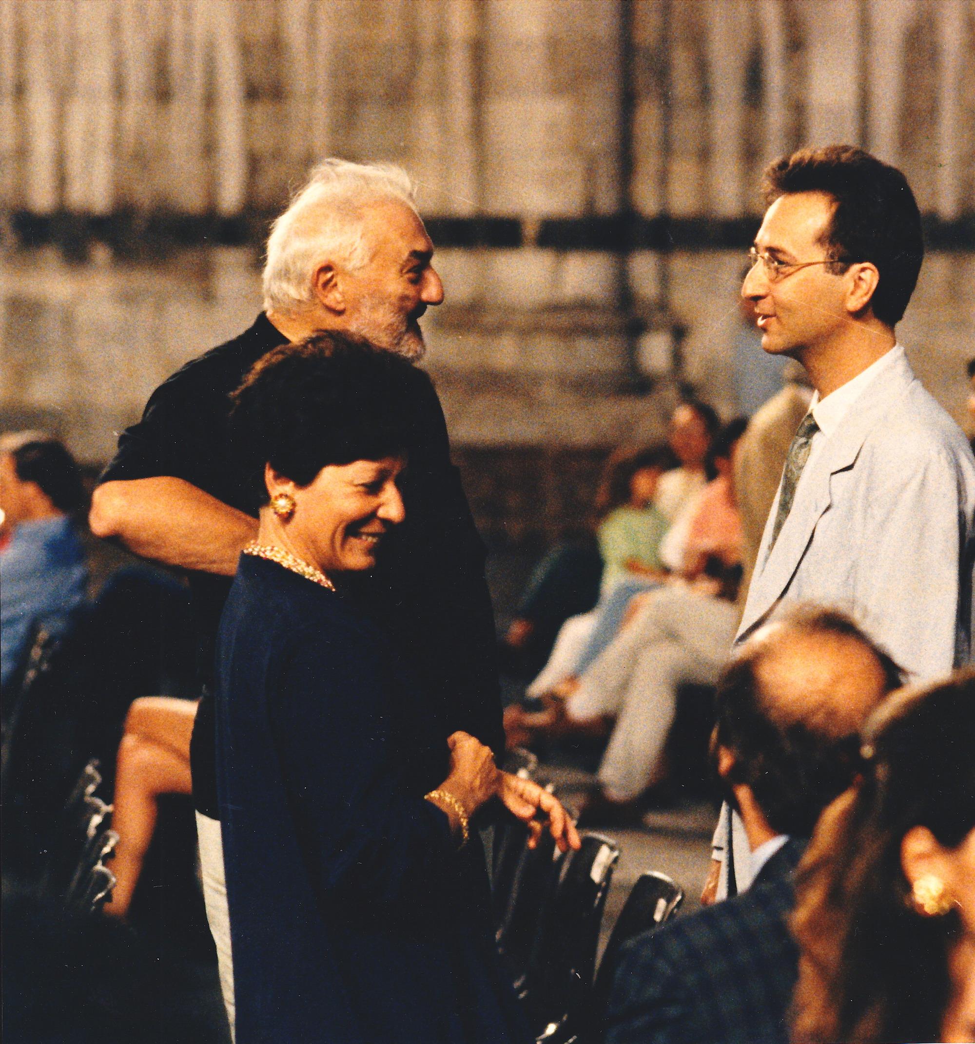 with Franco Donatoni and Maria Isabella De Carli