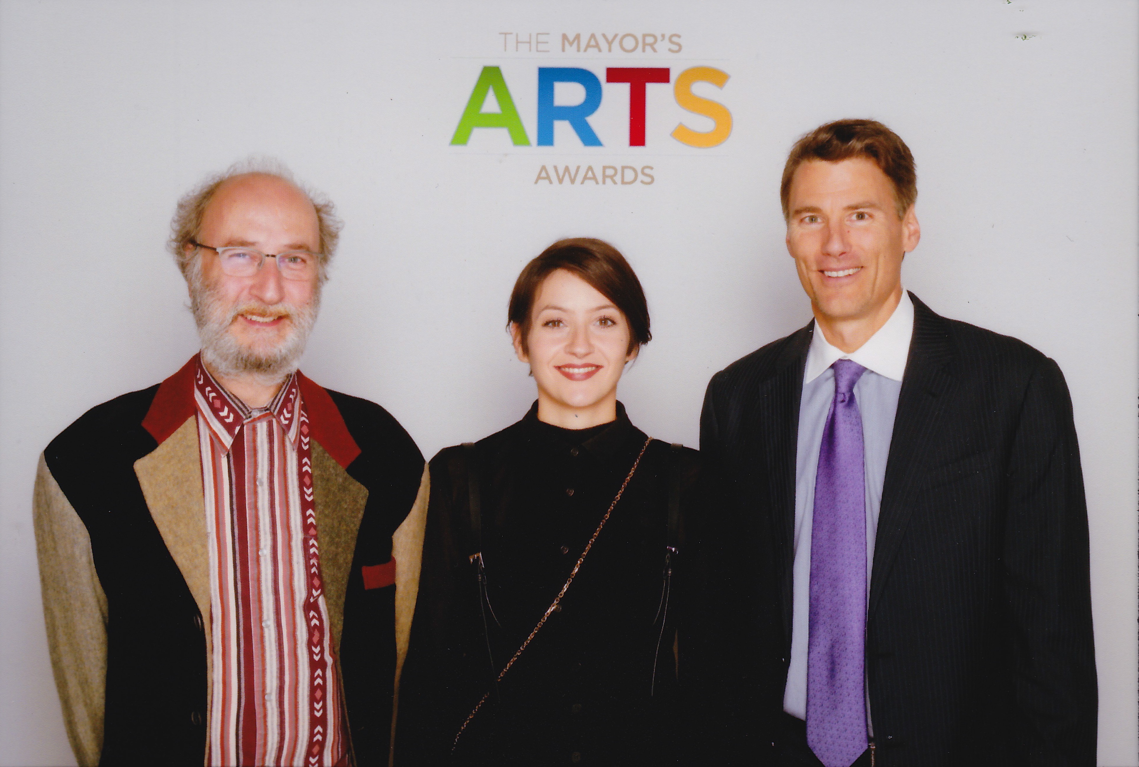 with Emily Green and Mayor Gregor Robertson