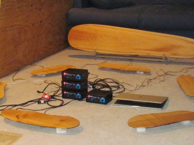 yellow cedar resonator plus 6 maple resonators