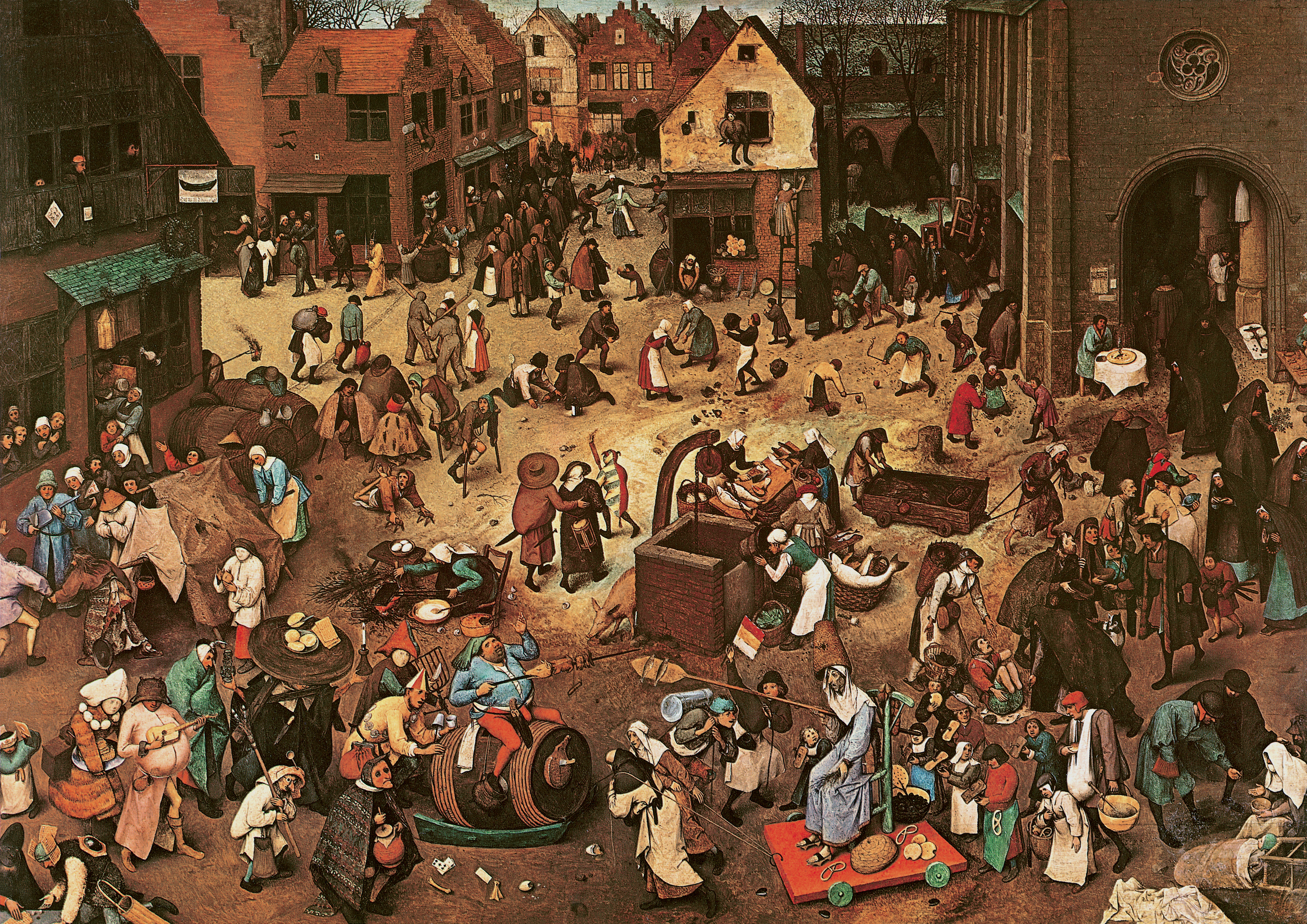 Pieter Bruegel The Elder 1559 • the fight between carnival and lent