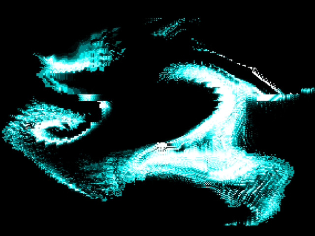 swirling (liquid) pixels